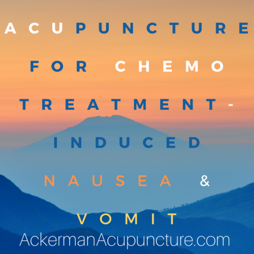 Acupuncture Treats Chemotherapy-induced Nausea and Vomit (in Anoka, MN)