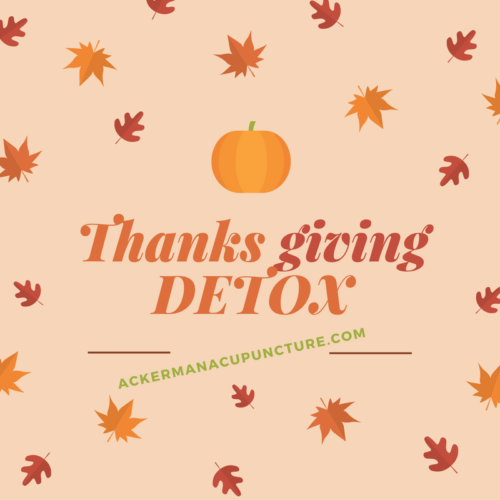 Thanksgiving Detox: Improve Low Energy and Digestion near Andover, MN.